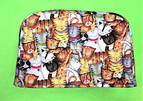 2 Slice Slot Cats Kittens Reversible Kitchen Appliance Toaster Dust Cover Cozy 11.5(l) x 7.5(h) x 5.5(w)
