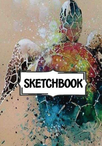 "Sketchbook : art watercolor turtle: 120 Pages of 7"" x 10"" Blank Paper for Drawing, Doodling or Sketching (Sketchbooks)"