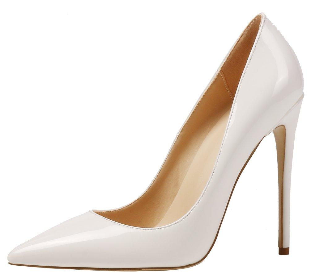 AOOAR AP09N - Zapatos de Vestir de Sintético para Mujer 36 EU Wei/Lackleder