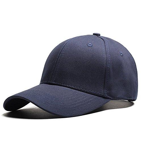 Puissantsolid color baseball cap men's cap outdoor sun hat female,Navy blue,adjustable