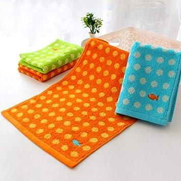 Bearony Suave 4pcs Puntos Goldfish patrón de algodón Absorbente Toallas Facecloths Toallas de baño Conjunto: Amazon.es: Hogar