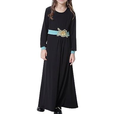 Haodasi Children Girls Muslim Gown Robes Saudi Arabia Apparel Abaya ...