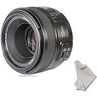 YONGNUO YN50mm f/1.8 AF Lens Aperture Auto Focus for Nikon D800 D300 D300S D700 D600 D5000 D5100 D5200 D5300 D5500 D3100 D3200 etc.+INSEESI Clean Cloth