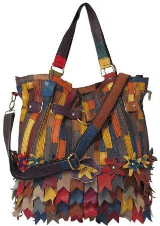 AmeriLeather Kylie Tote (Rainbow) - Lambskin Leather Tote Bag