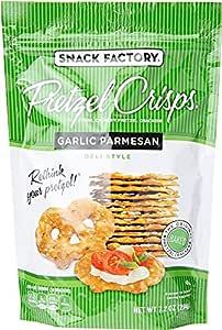 Snack Factory Pretzel Crisps, Garlic Parmesan, 7.2 Oz Bag