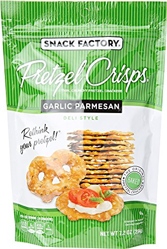 Snack Factory Garlic Parmesan Pretzel Crisps, 7.2 - Garlic Pretzel