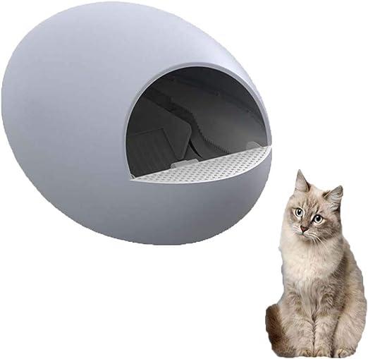 Cajas de Arena para Gatos eléctricas, autolimpieza, retrete automático Completamente Cerrado del Gato Bandeja de Basura para Gatos Reutilizable, sin Sabor/Fácil de Limpiar, Azul: Amazon.es: Productos para mascotas