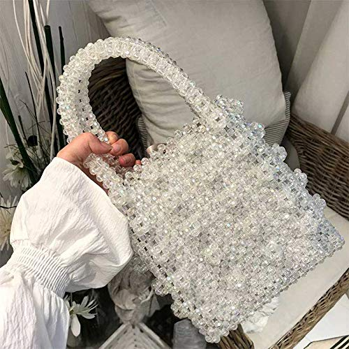 Bag Handbag Handle Handmade Purse Vintage Bags BigHome Bag White Evening Female Beaded Top VT Pearl w8qnXRxAZa