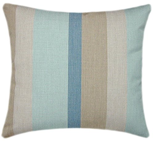 TPO Design, Sunbrella Gateway Mist Indoor/Outdoor Striped Pillow 20x20 ()