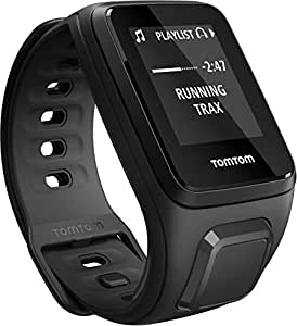 TomTom Spark Cardio + Music, GPS Fitness Watch + Heart Rate Monitor + 3GB Music Storage (Small, Black)