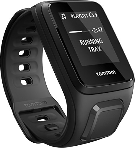 TomTom Spark Cardio + Music, GPS Fitness Watch + Heart Rate Monitor + 3GB Music Storage (Small, Black) TomTom