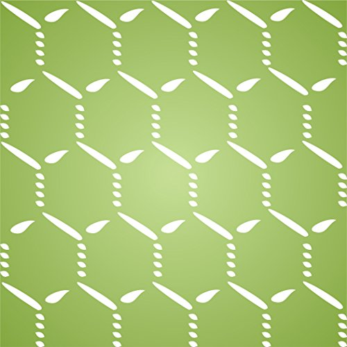 "CHICKEN WIRE STENCIL(size 5""w x 5""h) Reusable Stencils for Painting - Best Quality Scrapbooking Wall Art Décor Idea - Use on Walls, Floors, Fabrics, Glass, Wood, Cards, and More… (Chicken Clear Wire)"