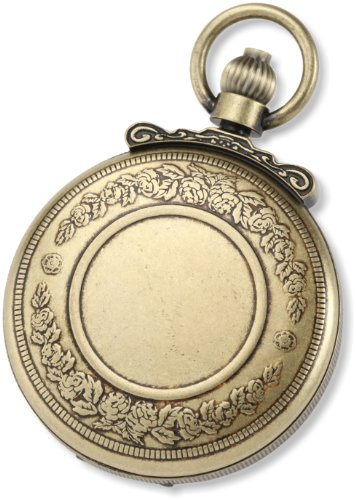 Charles-Hubert-Paris-3863-G-Classic-Gold-Plated-Antiqued-Finish-Quartz-Pocket-Watch