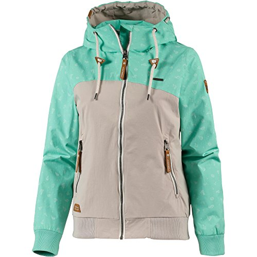Ragwear Chaqueta con capucha, verde menta, small