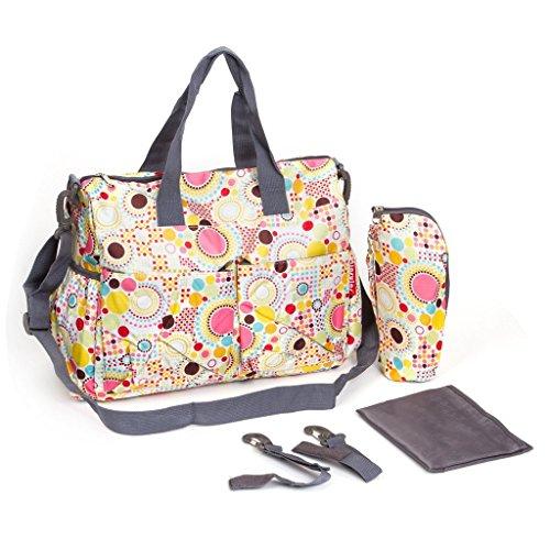 Bolsas de moda Multi Purpose–Bolso para pañales para bebé pañales para pañales bolso cambiador grande momia bolsa negro negro amarillo