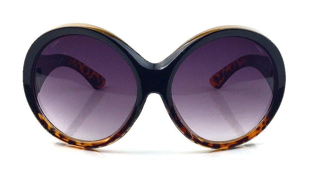 12d4412ebbc9c Amazon.com  Designer Fashion Oversized Oval Round Large XXL Thick Frame  Women Sunglasses Ali (Black)  Clothing