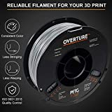 OVERTURE PETG Filament 1.75mm with 3D Build Surface 200mm × 200mm, 3kg PETG Multipack (2.2 lbs/Spool), Dimensional Accuracy +/- 0.05 mm, Fit Most FDM 3D Printers