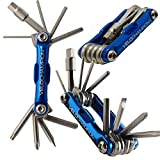 VeloChampion MLT10 Bike Multi Tool Bikes with Multiple hex Keys to fit Any Size Bolt or Screw, fold Out Philips and Slotted Screwdrivers