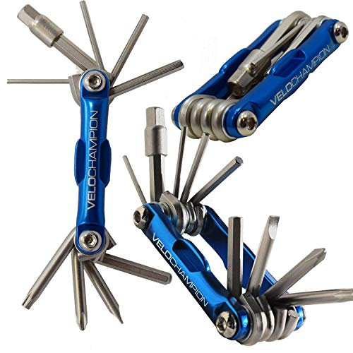 - VeloChampion MLT10 Bike Multi Tool Bikes with Multiple hex Keys to fit Any Size Bolt or Screw, fold Out Philips and Slotted Screwdrivers