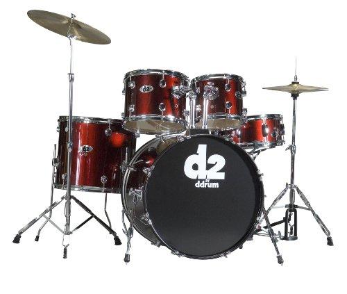 dDrum D2 Beginner 5 Piece Drum Set Blood Red (Drum Red Ddrum)