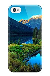 Premium Lake Mountain Scenery Heavy-duty Protection Case For Iphone 4/4s