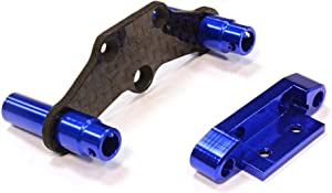 Integy RC Model Hop-ups C25778BLUE Billet Machined Rear Body Mount & Pin Retainer for Traxxas LaTrax Rally 1/18