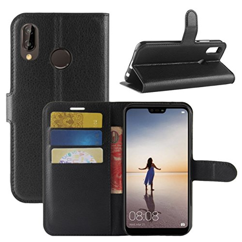Huawei P20 Lite Case, Fettion Premium PU Leather...