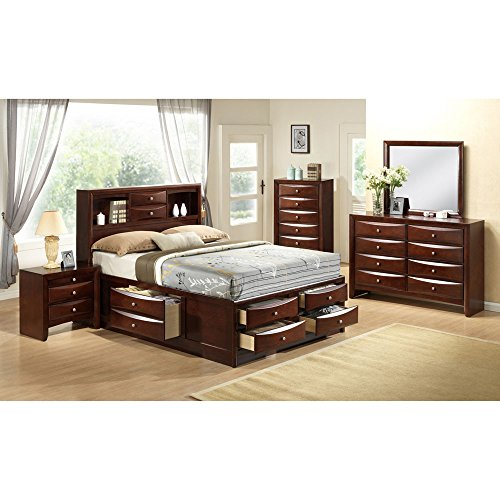 Cambridge 98126A5K1-CH 5 Piece Orleans Storage Bedroom Suite by Cambridge