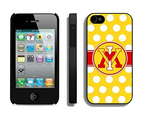 Custom Cheap Iphone 4/4s Case Speck Yellow Sports Element Cool Design Cover in Electronics Ncaa VMI (Cheap Speck Case For Iphone 5c)