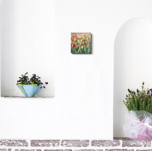Beautiful Flowers Colorful Tulips Oil Painting Style Wall Decor