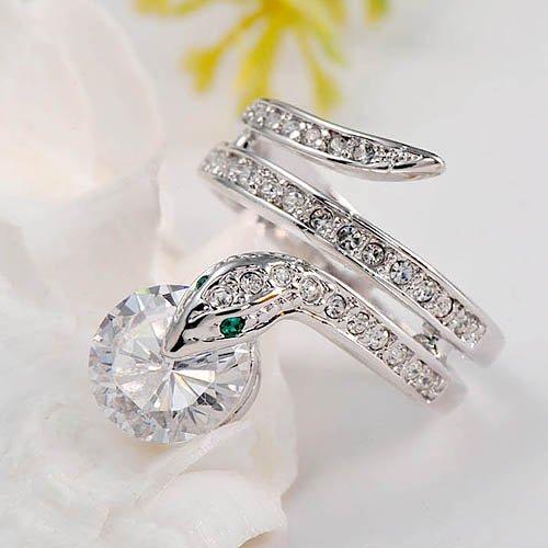 Animal Lovers Swarovski Element Crystal Alloy Snake Ring (8)