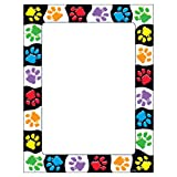 Trend Enterprises Inc T-11419 Paw Prints Terrific Papers, 50 ct