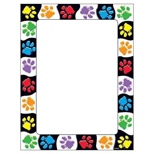 Trend Enterprises Inc T-11419 Paw Prints Terrific Papers, 50 ct by Trend Enterprises Inc
