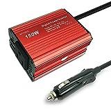 APINEE Primium 150W Car Power Inverter DC 12v to AC 110V with USB Port for Laptop, Phone, iPad, Tablet, Camera,etc