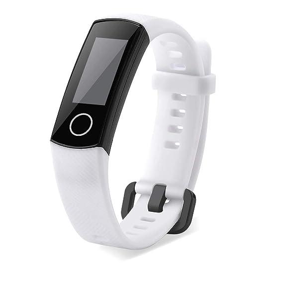 Huawei Honor 4 Strap, Pulsera de Repuesto hongtianyuan TPU Pulsera de Repuesto Pulsera de Repuesto para Huawei Honor 18mmX220mm Blanco: Amazon.es: Relojes