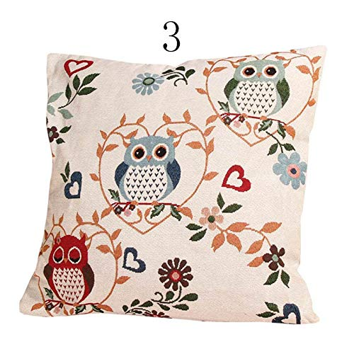 Amazon.com: 45x45cm Animal Flower Decorative Vintage Linen ...