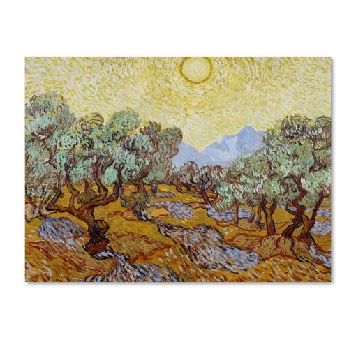 (Olive Trees 1889 Artwork by Vincent van Gogh, 35 by 47-Inch Canvas Wall Art)