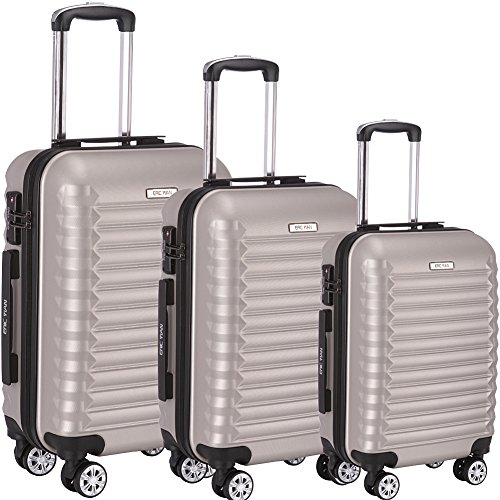Luggage Set 3 Piece ABS Trolley Suitcase Spinner Hardshell Lightweight Suitcases TSA by ERIC YIAN