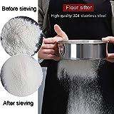 Flour Sifter for Baking - Flour Sieve Fine Mesh