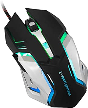 Adjustable DPI Gaming Mouse ergonomic 6 buttons 4 Breathing lights