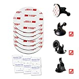 AEBTYKJ 6 of VHB 3M Round Adhesive Replacement Kit for Garmin Suction Cup Mount Alchol Pad