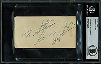 Jerry Lee Lewis Signed Ticket Stub Autographed BAS Slabbed