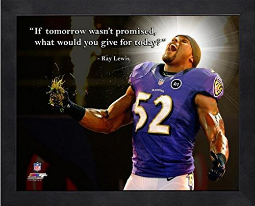 Photo 16x20 Bowl Pro (Ray Lewis Baltimore Ravens if tomorrow NFL framed Pro Quotes 16x20)