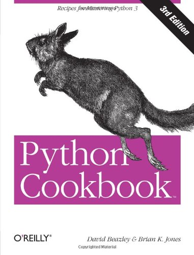 Book cover of Python Cookbook by David Beazley