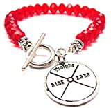 5 Lb Weight Crystal Toggle Bracelet in Crimson Red