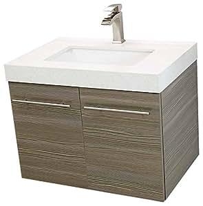 windbay 30 wall mount floating bathroom vanity sink set. Black Bedroom Furniture Sets. Home Design Ideas