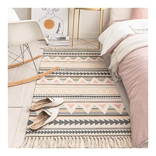 Carpet Cotton and Linen Tassel Woven Carpet Floor Mat Door Bedroom Tapestry Decorative Blanket Tea Living Room Carpet…