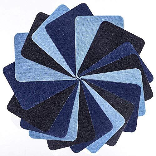Iron On Denim Patches, 18 PCS DIY Decorative Sticker Cotton Reparing for Clothing Jeans 3 Colors (5 X 3.75)