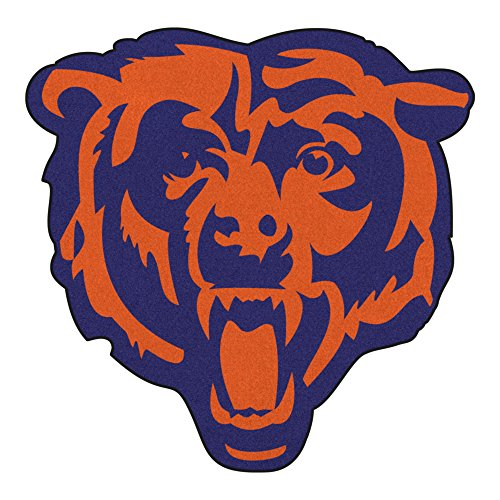 NFL Chicago Bears Mascot Novelty Logo Shaped Area Rug