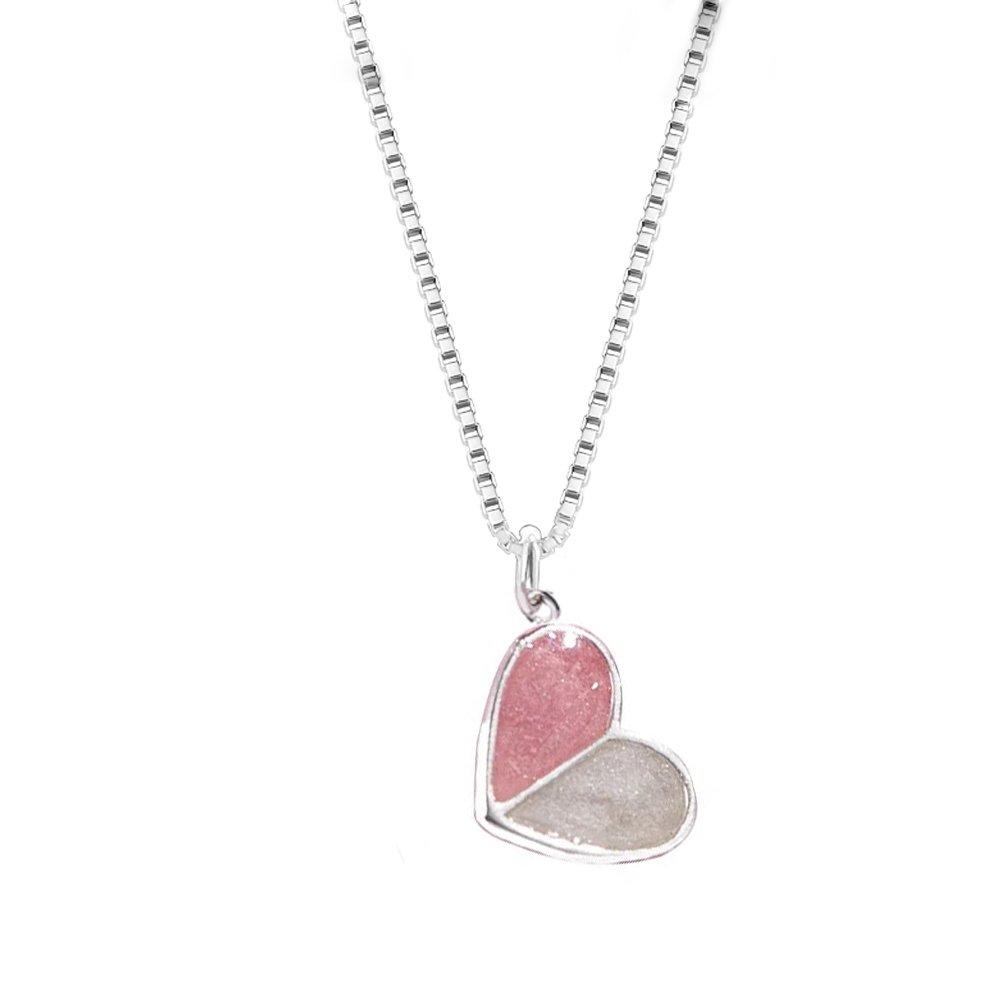 Helen de Lete Ice Cream Heart Sterling Silver Collar Necklace